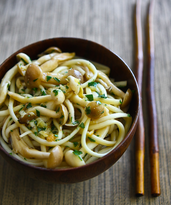 Japanese Noodles with Shimeji Mushroom - Steamy Kitchen Recipes
