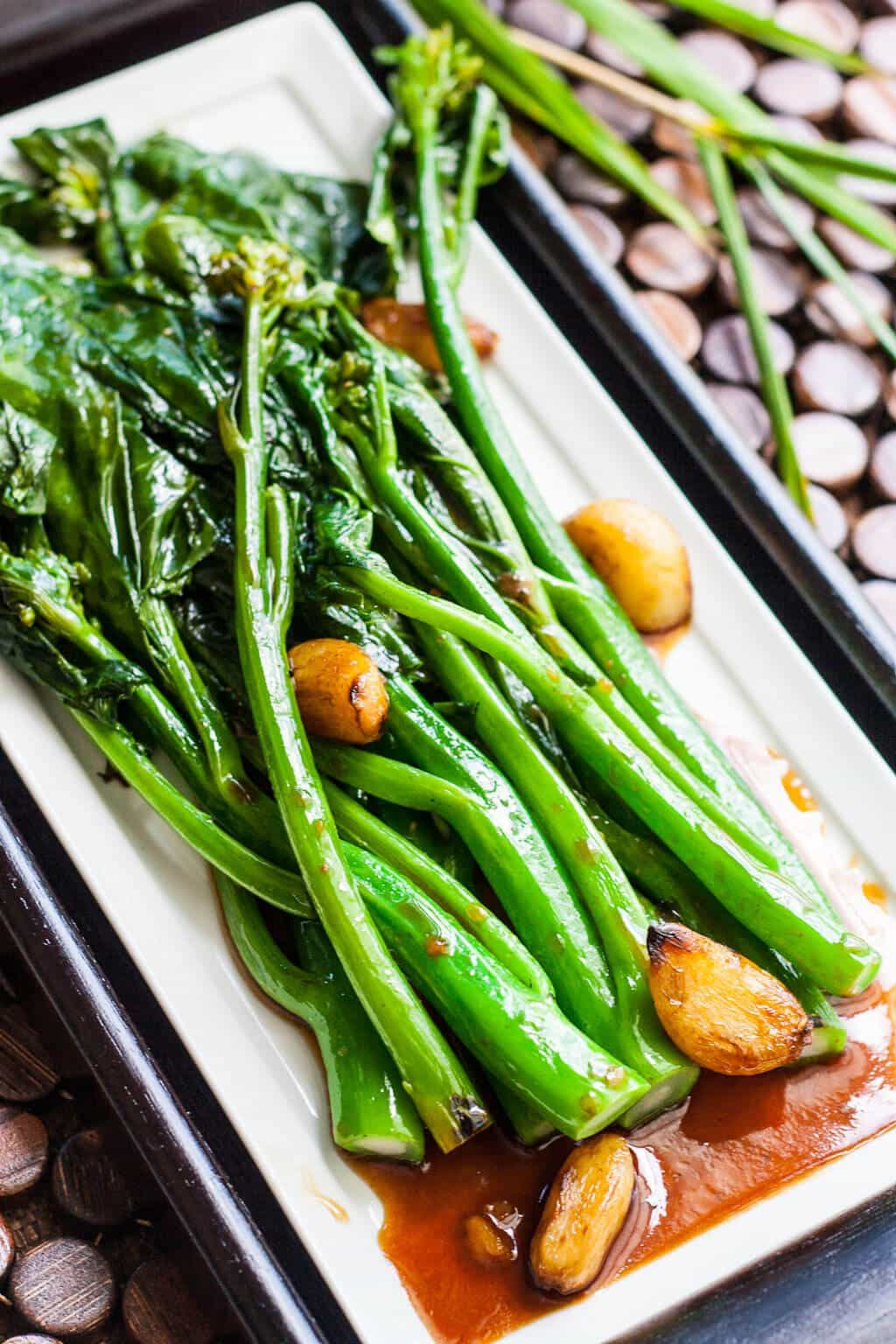 Chinese Broccoli with Oyster Sauce Recipe roasted garlic