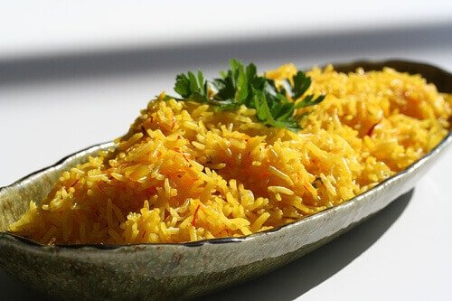 Saffron Rice • Steamy Kitchen Recipes