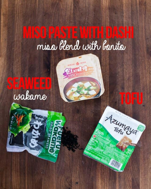 ingredients for miso soup recipes
