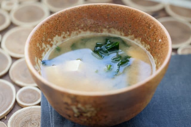one of the miso soup recipes in a bowl