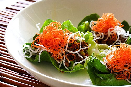 Asian Lettuce Cups Recipe with Ground Turkey & Green Apple