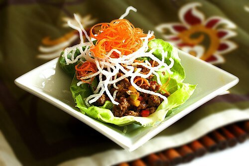 Asian Lettuce Cups with Ground Turkey & Green Apple