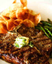 Grilled Steak Recipe with Garlic-Herb Butter