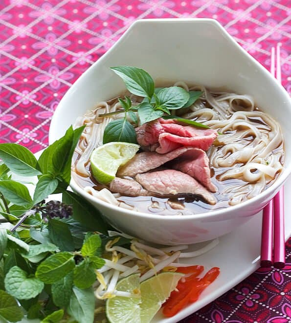 Vietnamese Pho Recipe Beef Noodle Soup Steamy Kitchen Recipes Giveaways