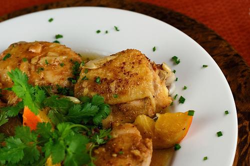 Ginger, Coriander & Orange Braised Chicken - Steamy Kitchen Recipes