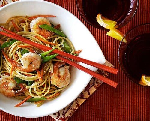 Long Life Fertility Noodles Recipe with Happy Shrimp