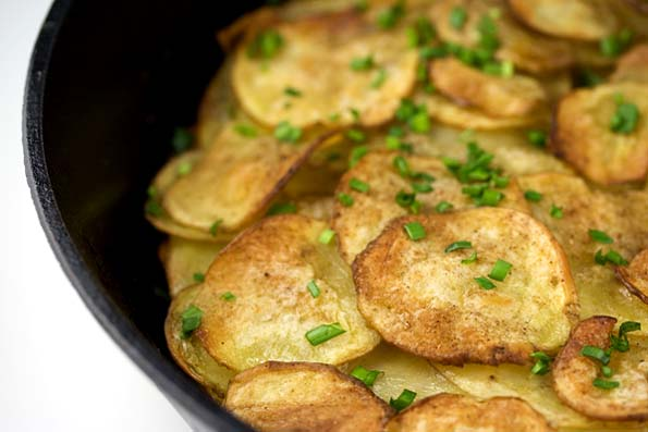 Potatoes Anna with Cinnamon and Coriander