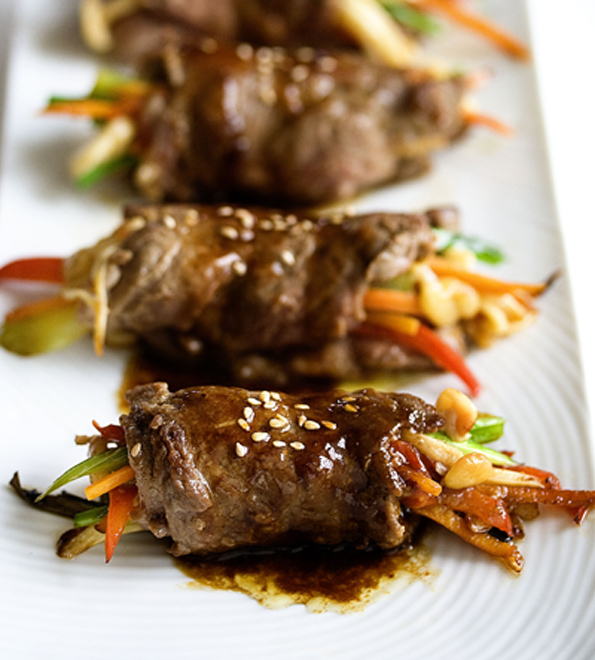 Martin Yan's Pan Seared Steak Rolls