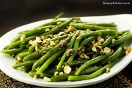 Green Beans with Garam Masala Butter and Toasted Hazelnuts