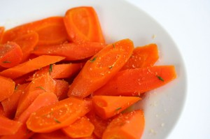 Honey Ginger Carrots with Citrus