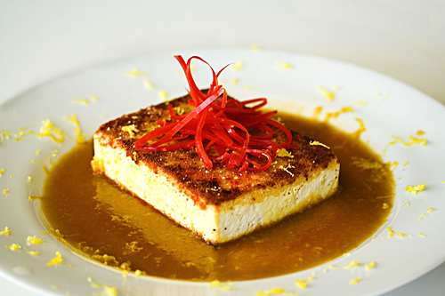 Crispy Tofu with Citrus Soy