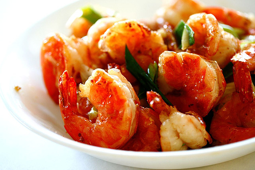 Garlic Brandy Prawns