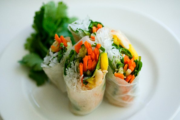 Vietnamese Summer Rolls with Cashew Butter Dipping Sauce