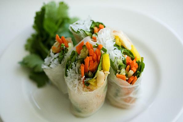 vietnamese shrimp mango summer rolls recipe servings makes 12 rolls