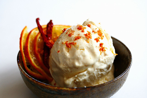 Orange-Chilli-Ricotta Frozen Yogurt