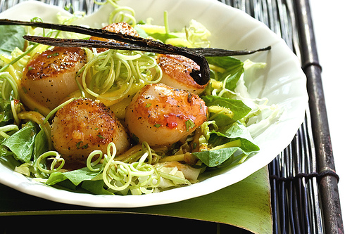 Scallop Salad with Sweet Vanilla Chili Dressing