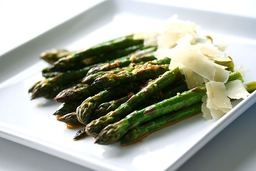 Slow Butter Braised Asparagus