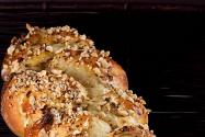 No-Knead Nutella and Roasted Hazelnut Challah