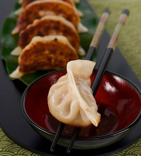 Pan Fried Pork and Shrimp Potstickers