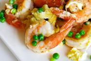 Stir Fried Shrimp, Eggs and Peas + Stir Fry Secrets