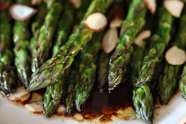 Roasted Asparagus with Balsamic Soy Browned Butter