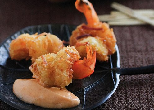 Coconut Shrimp with Sweet Chili Mayo Recipe - Steamy Kitchen Recipes