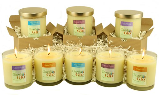 Sacred Glo Lotion Candles