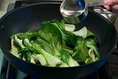 Bok Choy Recipe - Pour in broth, water or wine