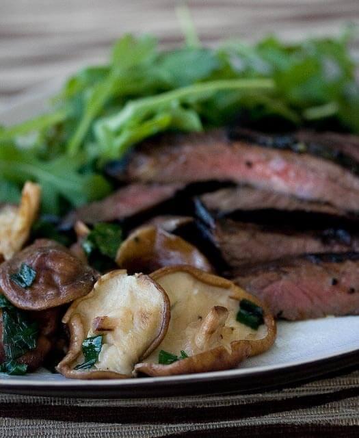 Honey Soy Skirt Steak with Shitake Mushroom Recipe