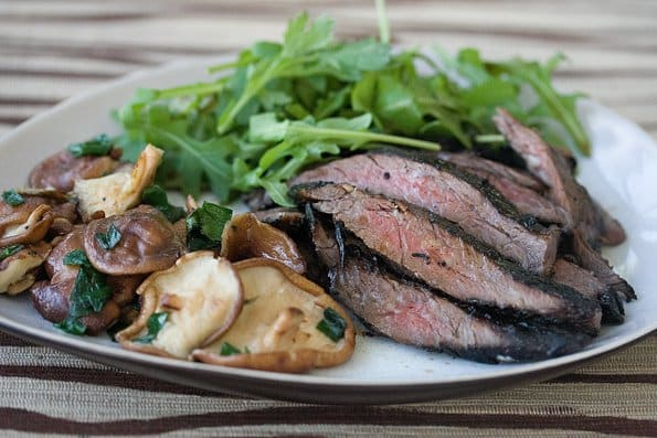recipe: flank steak with mushroom ragout [34]