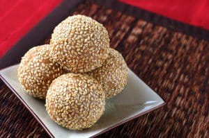 Sesame Balls for Chinese New Year