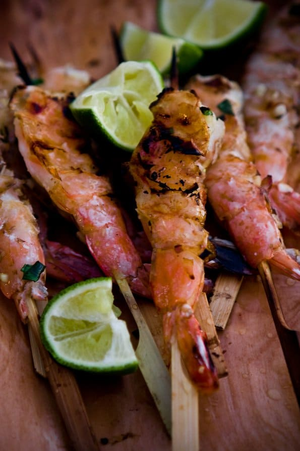 Grilled Shrimp with Lemongrass and Ginger - Steamy Kitchen ...