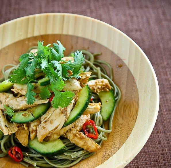 Delicious Days' Asian Sesame Chicken Noodle Salad