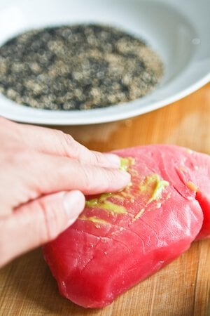 Sesame Seared Tuna with Lime Ginger Vinaigrette - Steamy Kitchen ...