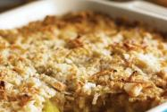 Pineapple, Kumquat and Ginger Crisp with Coconut Topping