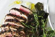 Sesame Seared Tuna with Lime Ginger Vinaigrette