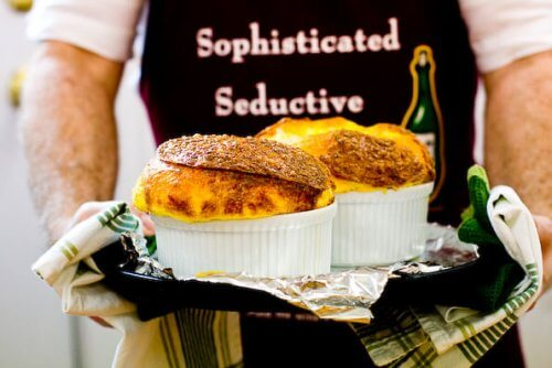 chef holding souffles