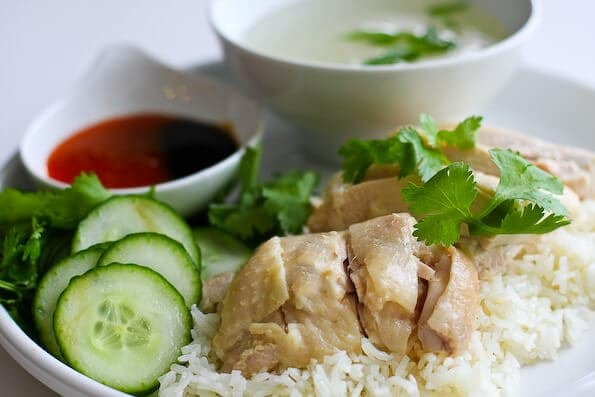 Chicken Rice Singaporean Dishes