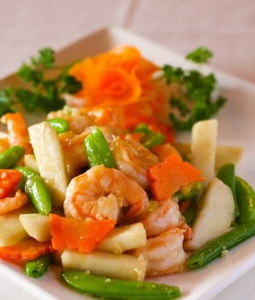 shrimp on plate
