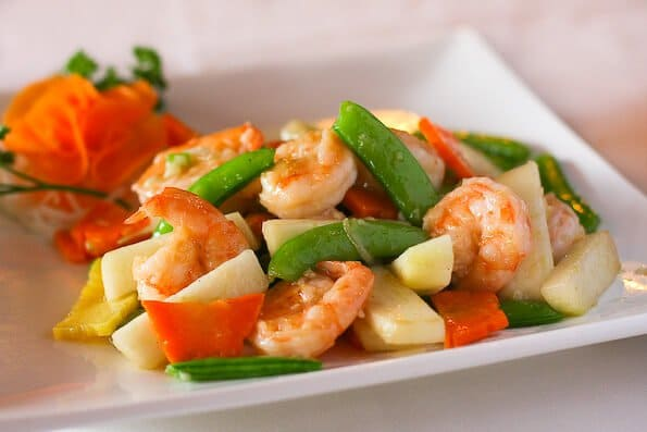 Fresh Pear and Shrimp Stir Fry Recipe