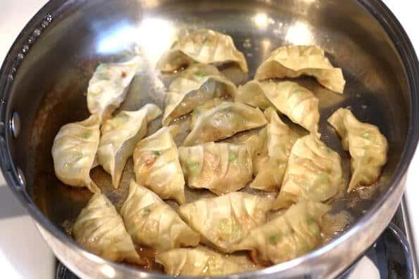 Gyoza Recipe - Steaming