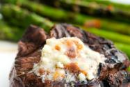 Bacon Blue Cheese Butter on Grilled Steak, Baked Potatoes, Vegs…