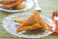 Sweet Pumpkin Fried Wonton Desserts