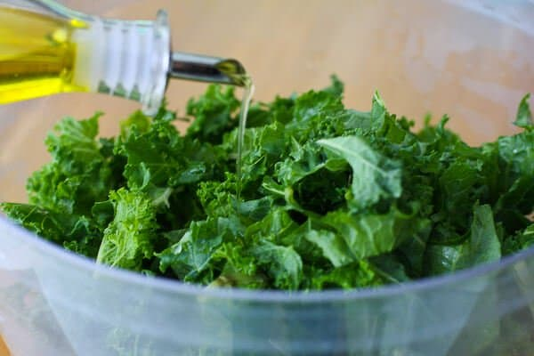 Kale Chips Recipe - olive oil