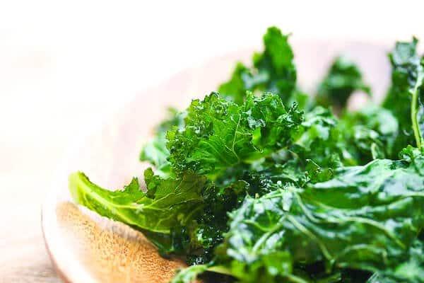Kale on plate