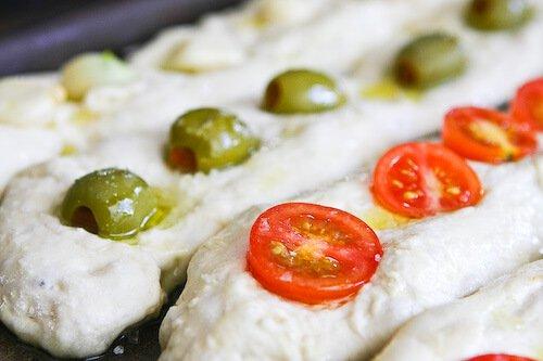 No Knead Baguette Recipe - sprinkle with salt