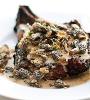 Steak with Creamy Whiskey Mushroom Sauce - Steamy Kitchen Recipes