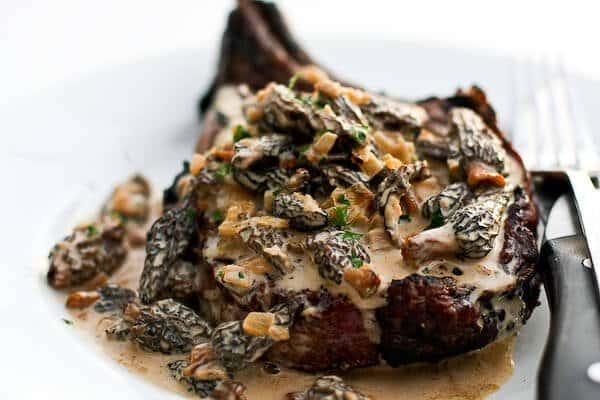 Steak with Creamy Whiskey Mushroom Sauce • Steamy Kitchen ...