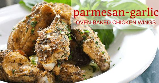 Baked Parmesan Garlic Chicken Wings Recipe